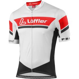 Löffler Pro Racing Fietsshirt korte mouwen Heren rood/wit